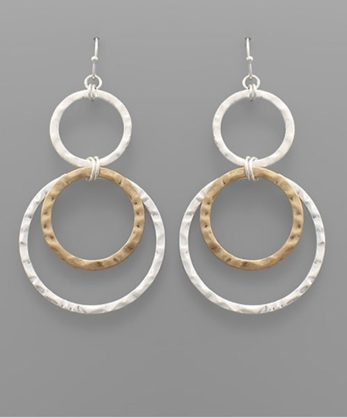 Meet Cute Double Hoop Earrings- two-tone