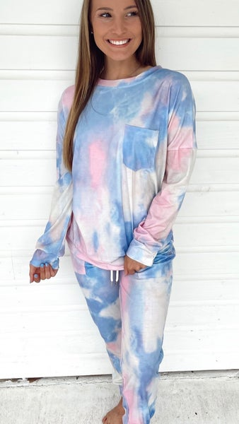 Claire Tie Dye Set- Cotton Candy