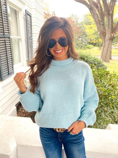 Tatum Turtleneck Sweater-Blue