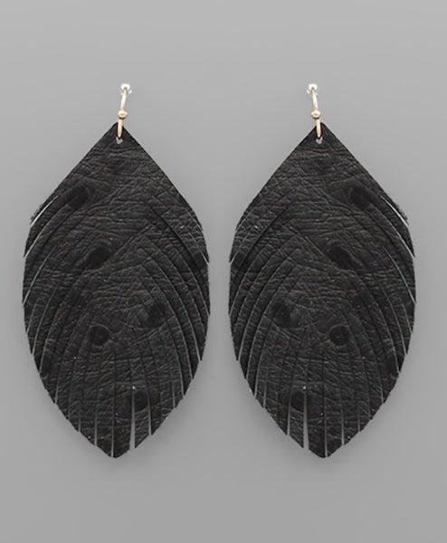 Feeling Light Feather Earrings-black