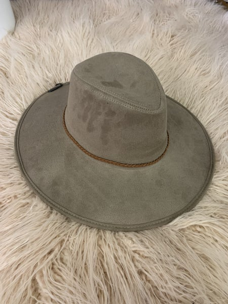 Taupe Suede Hat