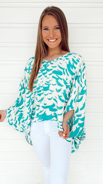 Jaded Feather Top
