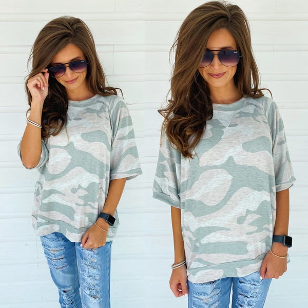 Remember Me Camo Top