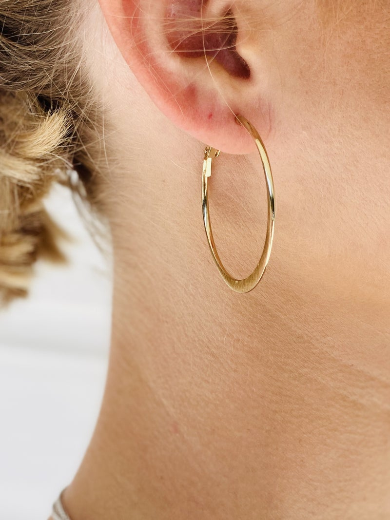 Go For The Gold Hoop Earrings