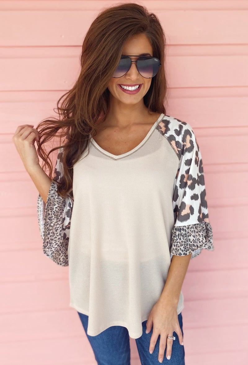 Now Or Never Taupe Top