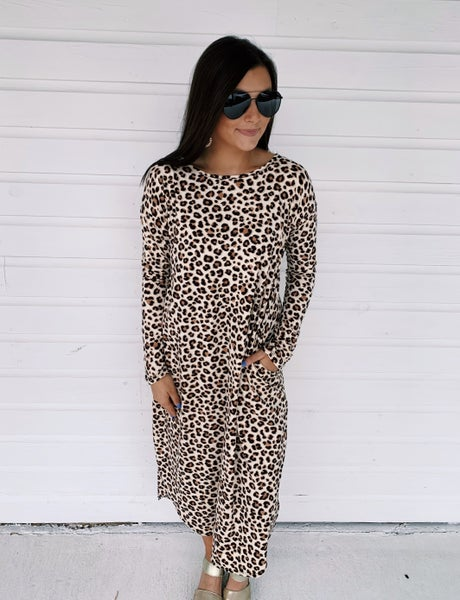 Charlotte Cheetah Dress *Final Sale*