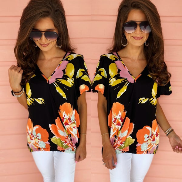 Tropical Vibes Floral Top