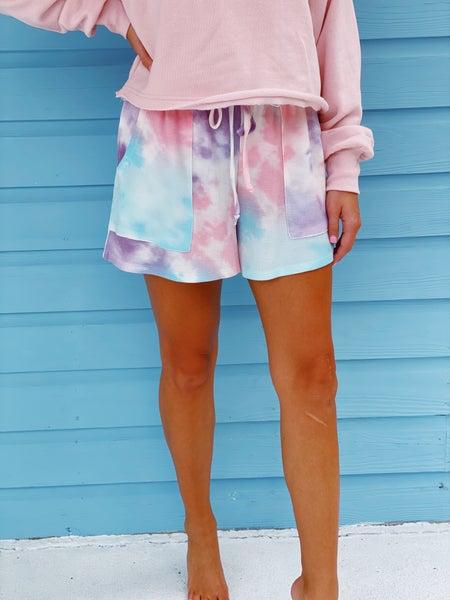 Pleasantly Sweet Tie Dye Shorts