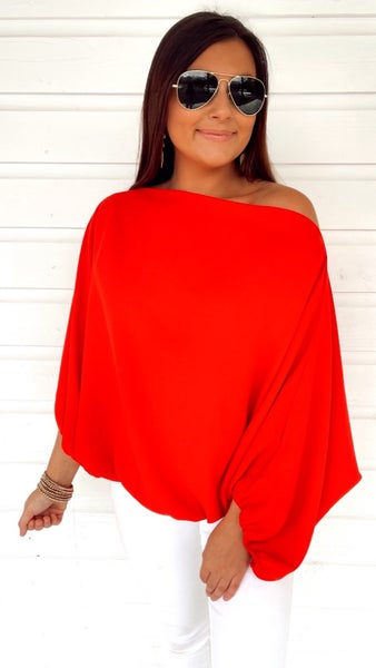 Sophia Big Apple Red Top