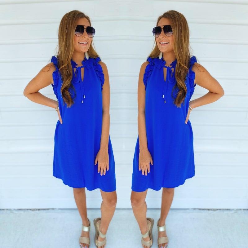 *Hey Girl Royal Blue Dress