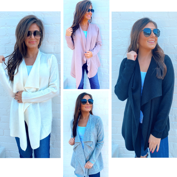 Charming Cardigan- 4 options *Final Sale*