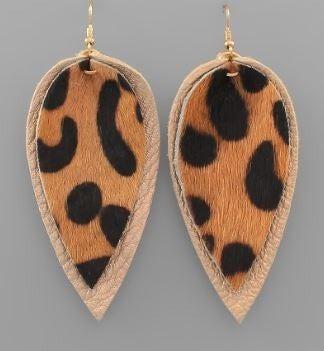 Cheetah Pewter Earrings