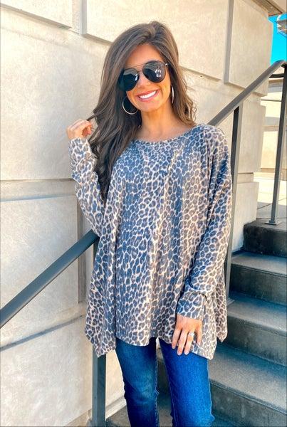 Bentleigh Brushed Leopard Top