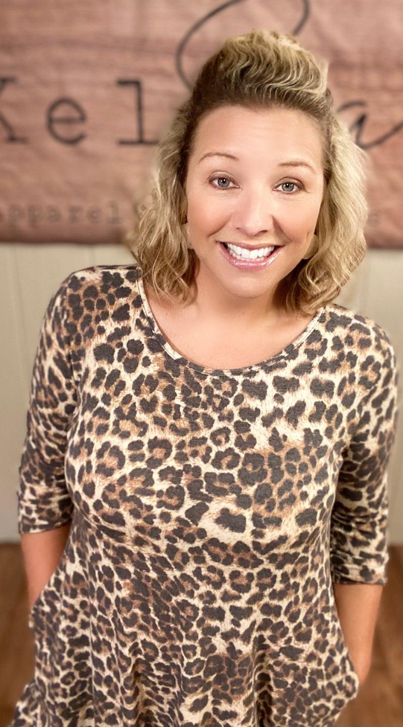 Fierce Leopard Pocket Dress