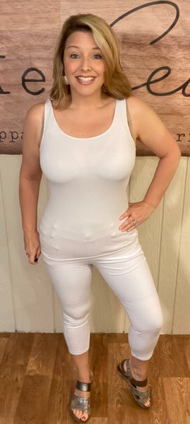 White Crop Jeggings