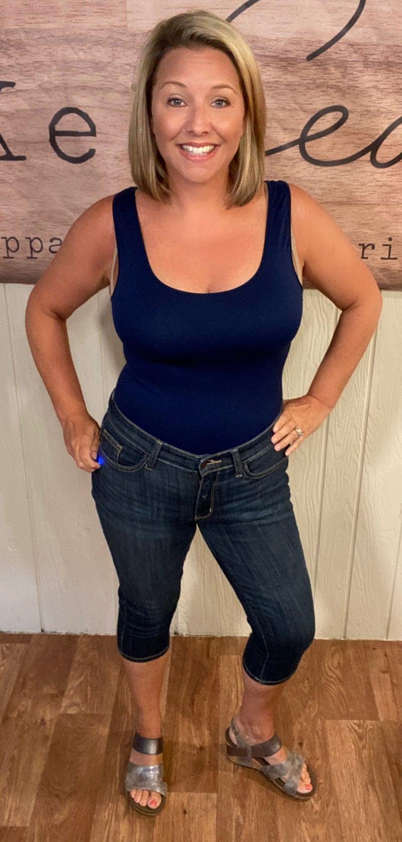 Judy Blue Mid Rise Capri