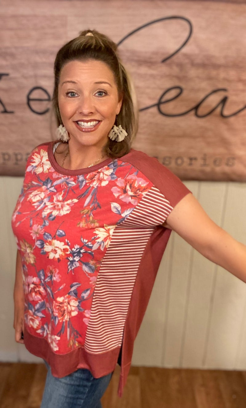 American Floral Tunic