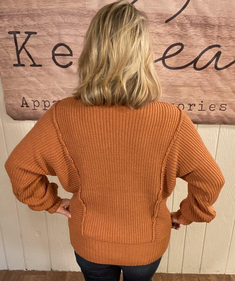 Almond Turtle Neck Sweater