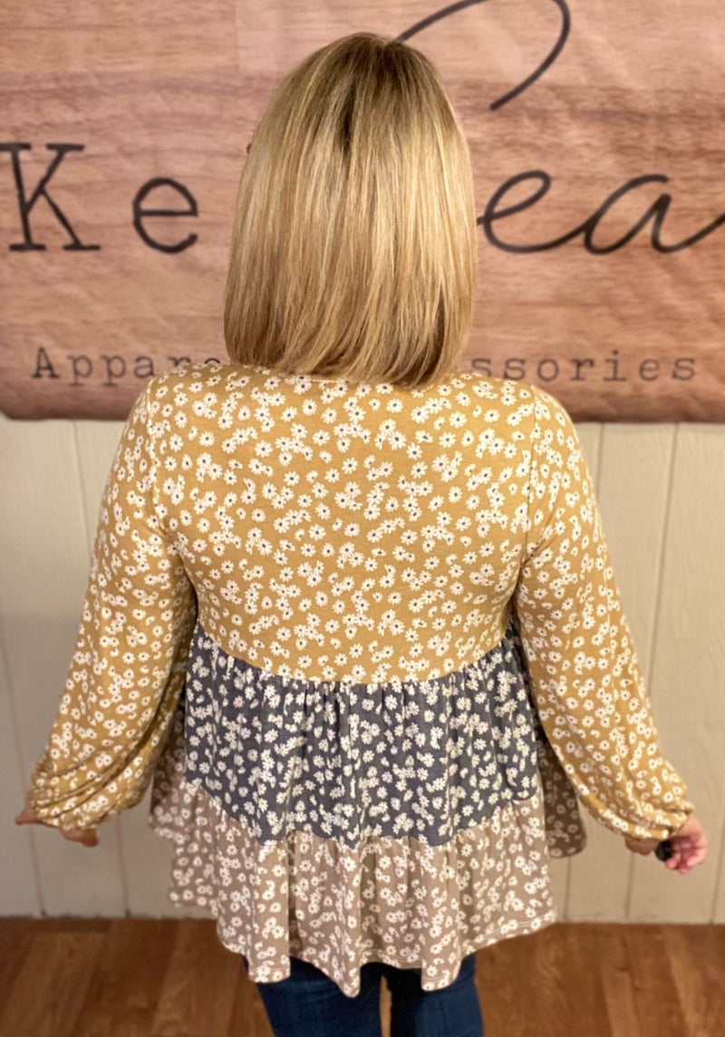 Ditzy Floral Tiered Babydoll Top