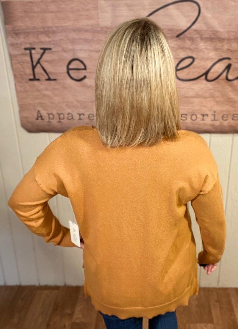 Slouchy Season  V-Neck Sweater