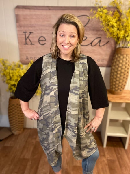 Camo Swing Vest with Pockets