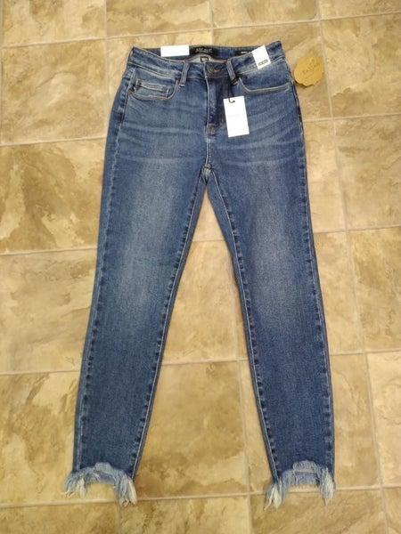 Judy Blue Shark Bite Ankle Jeans