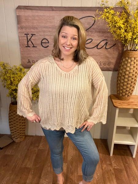 Natural Crochet Sweater