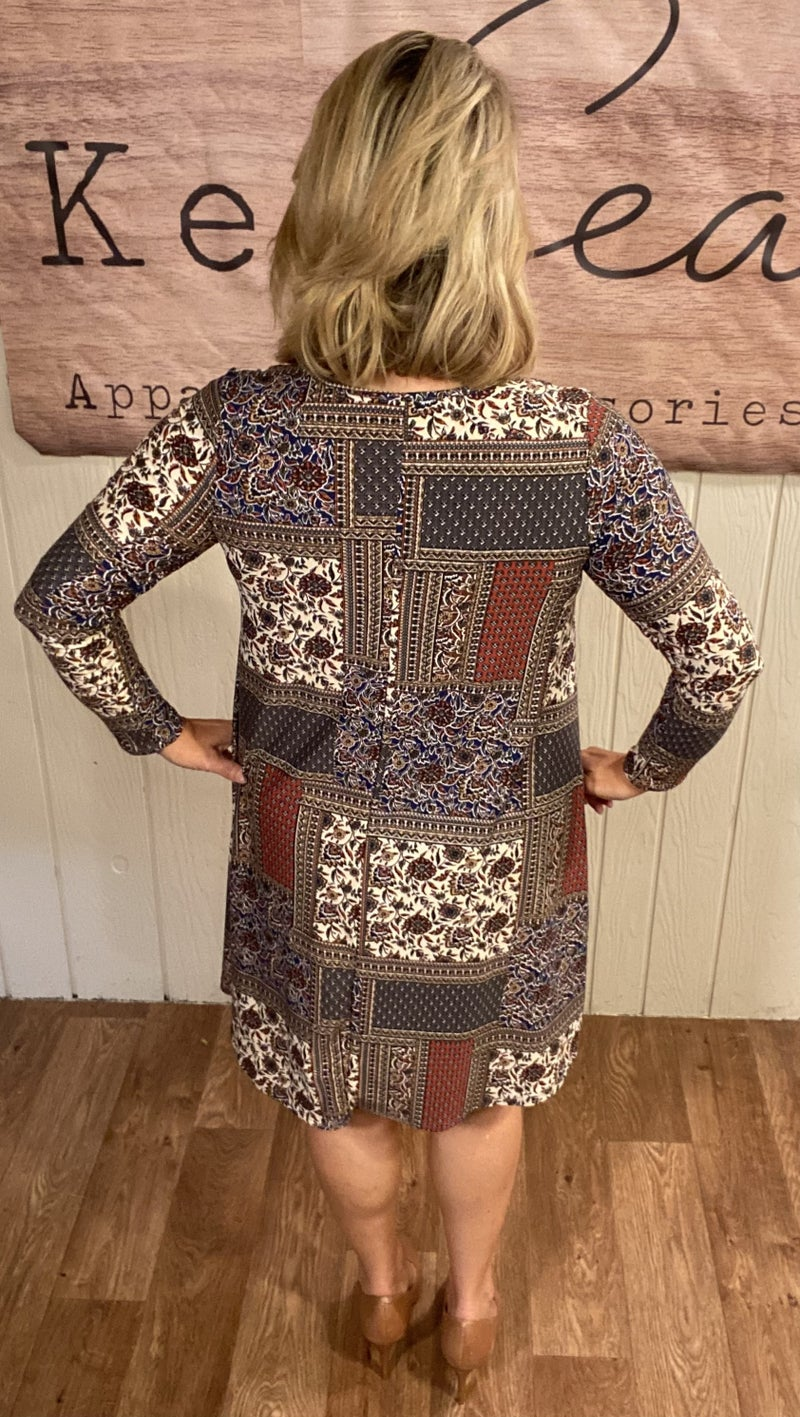 Jaquard Patchwork Dress