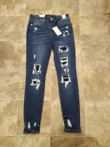 Judy Blue Patched Distressed Jeans