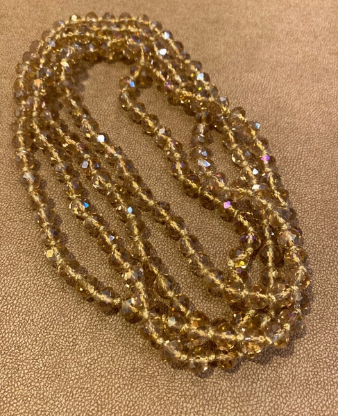 Long Champagne Bead Necklace
