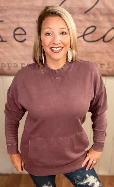 Longline Fleece Pocket Sweatshirt