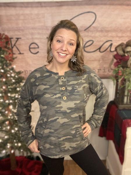 Army Camo Henley