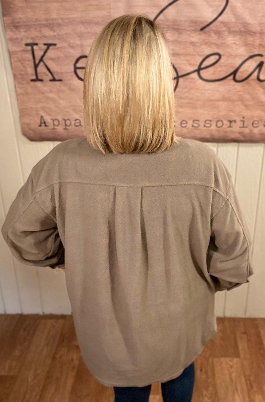 Oversized Fleece Shacket