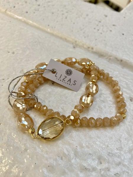 Peach Shimmer Bracelet Set