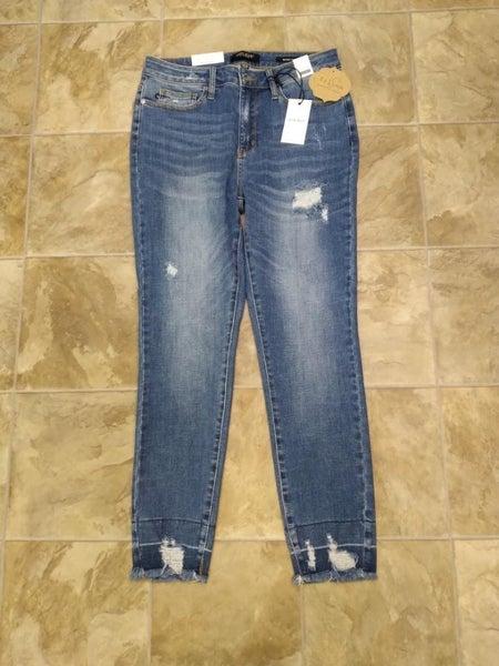 Judy Blue Deconstructed Hem Jeans