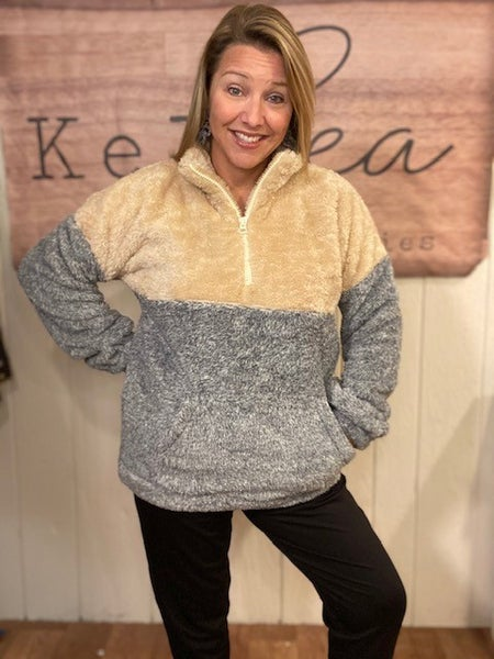 Furry Fleece 3/4 Zip Pullover