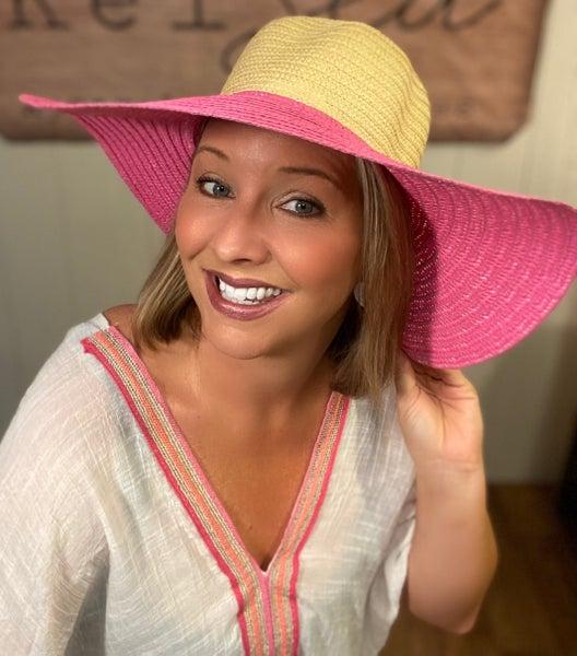 Color Brim Sunblock Hats