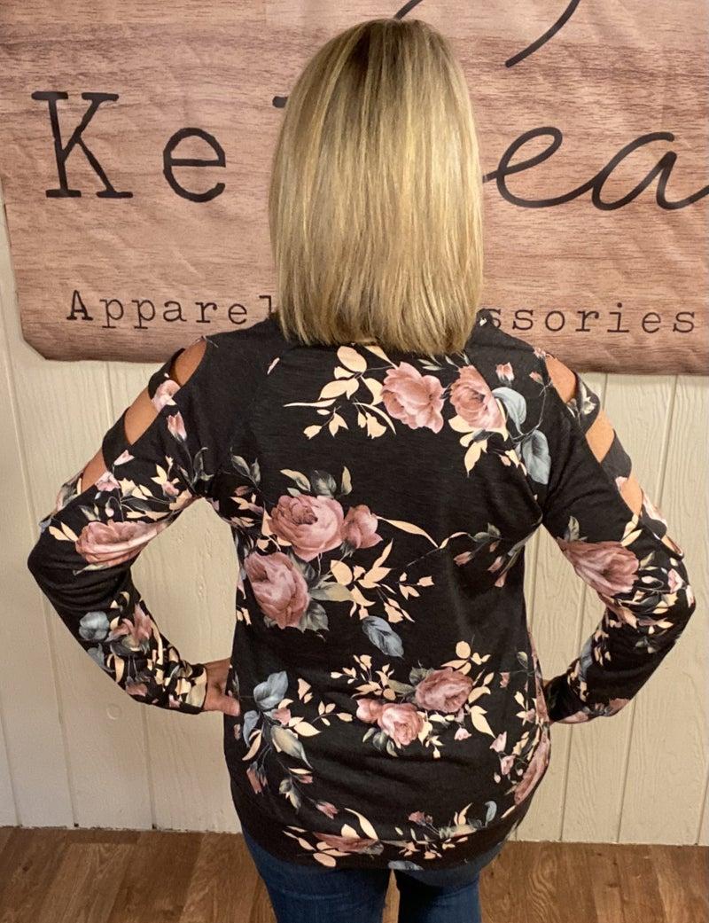 Floral Open Arm Top