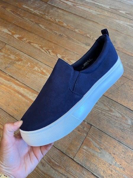 Navy Slide Sneaker
