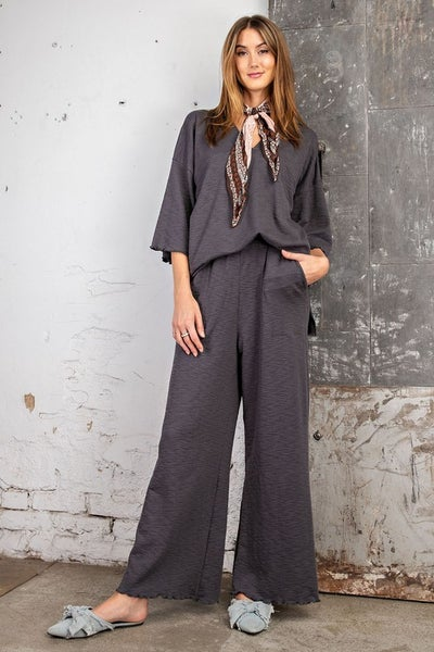 Easel - Comfy Wide Leg Lounge Pants
