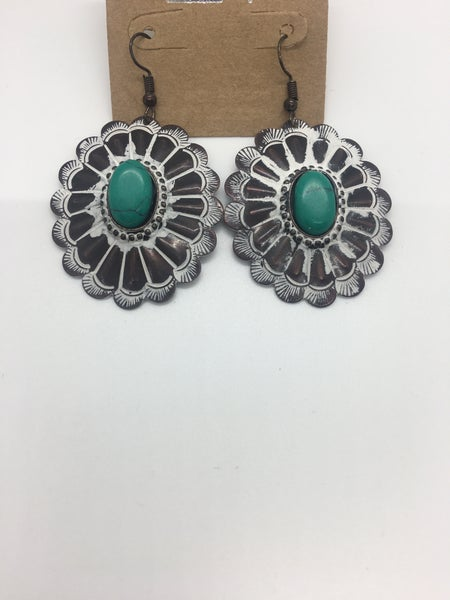 Handmade Concho Earrings