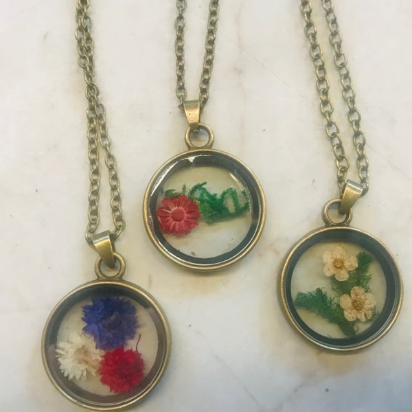 Dried Flower Necklace - 3 Styles