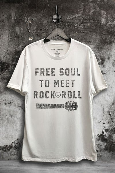 Black Sparrow - Free Soul Rock N Roll Boyfriend Tee