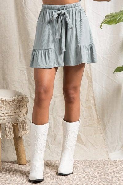BaeVerly - Flowy Ribbed Shorts