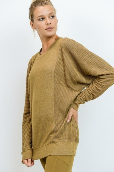 Mono B - Mixed Hacci Round-Neck Sweater