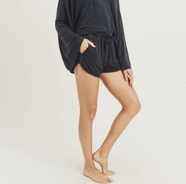 Mono B - Mineral Wash French Terry Lounge Shorts