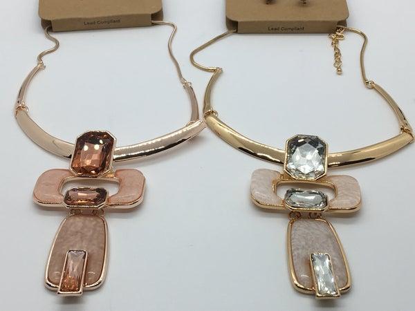 Gold Pendant Necklace - 2 Colors