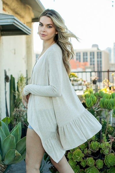 Ces Femme - Drapped Open Front Cardigan