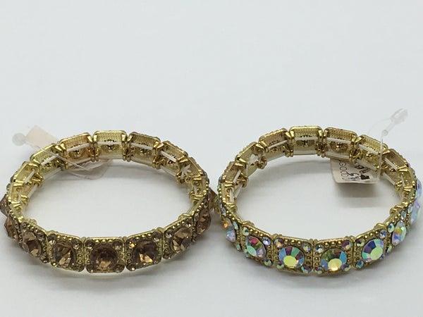 Gold Crystal Bracelet - 2 Colors