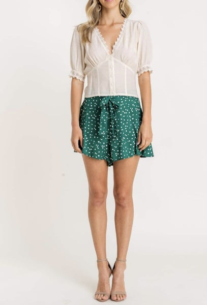 Lush - Button Lace Top